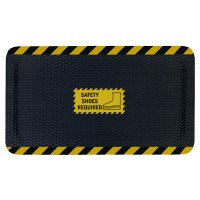 Hog Heaven™ Safety Message Anti-Fatigue Mats - Safety Shoes Required