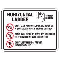 Horizontal Ladder - Playground Sign