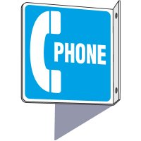 2-Way Phone Symbol Sign