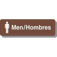 Bilingual Men's Restroom Decor Signs