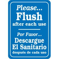 Bilingual Please Flush After Use Signs