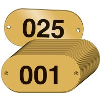 Numbered Brass ID Plates