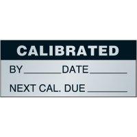 Calibrated Aluminum Status Label
