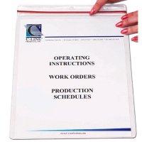 Industrial Zipper Seal Document Holders