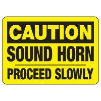 Caution Sound Horn Safety Sign