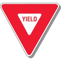 Yield In-Plant Plastic Traffic Sign