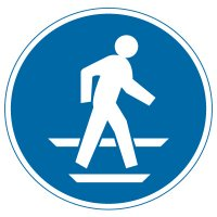 International Symbol Labels - Use Pedestrian Route