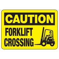 Caution Forklift Crossing Sign