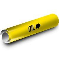 Oil Kwik-Koil Pipe Markers