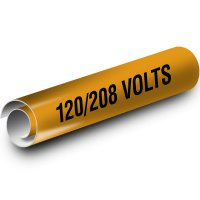 120/208 Volts Kwik-Koil Pipe Markers