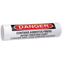 Danger Asbestos - Setmark® Snap-Around Pipe Markers