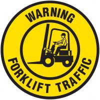 Floor Safety Signs - Warning Forklift Traffic