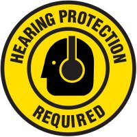 Floor Safety Signs - Hearing Protection Required