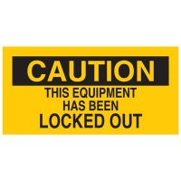 Brady 60172 Lockout Sign - THIS EQUIPMENT HAS BEEN LOCKED OUT