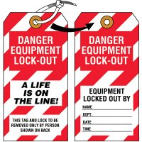 Danger Equipment Lock-Out Tag
