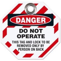 Danger Do Not Operate Tag (Octagonal)