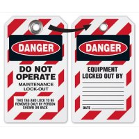 Danger Maintenance Lockout Tag