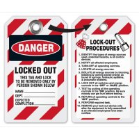 Danger Locked Out Tag (Tyvek)