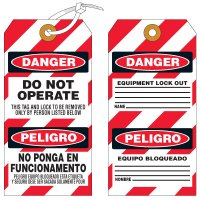 Bilingual Danger Lockout Tag