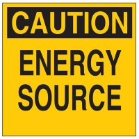 Brady 60162 Lockout Sign - Caution - Energy Source
