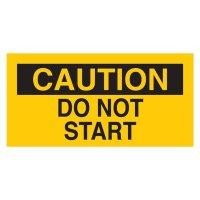 Brady 60175 Lockout Sign - CAUTION - DO NOT START