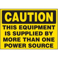 More Than One Power Source Warning Markers