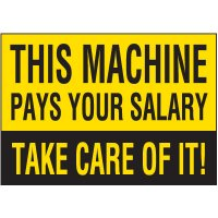 Machine Pays Salary Warning Markers
