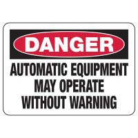Automatic Equipment Operates Without Warning Sign