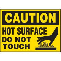 Hot Surface Warning Markers