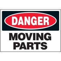 Machine Safety Labels - Danger Moving Parts
