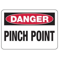 Danger Pinch Point Sign