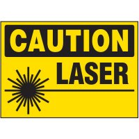 Caution Laser Warning Markers