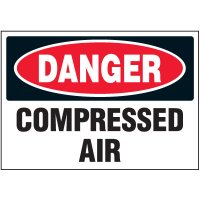 Machine Safety Labels - Danger Compressed Air