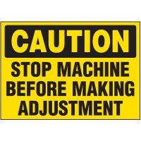 Stop Machine Warning Markers