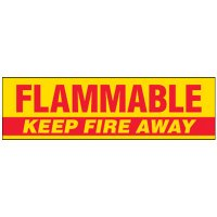 Flammable Magnetic Storage Cabinet Label