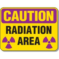 Radiation Signs - Caution Radiation Area