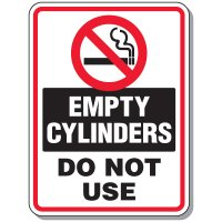 Cylinder Mining Signs - Empty Cylinders Do Not Use