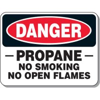 Chemical & Flammable Signs - Danger Propane No Smoking