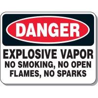 Chemical & Flammable Signs - Danger Explosive Vapor