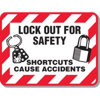 Lock-out & Machine Safety Signs - Lockout For Safety