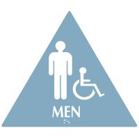 Men (Accessibility) - Modern California Code Restroom Signs