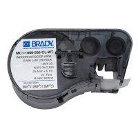 Brady BMP51/BMP41 MC1-1000-595-CL-WT Label Cartridge - White on Clear