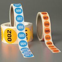 """Numbered Inventory Labels - 3/4"""" Diameter"""