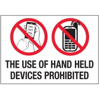 No Texting Security Labels - The Use Of Hand Held Devices