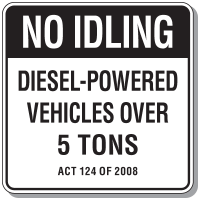 Pennsylvania Idling Restriction Sign