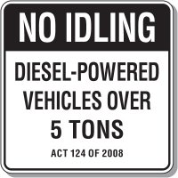 Pennsylvania Idling Restriction Sign