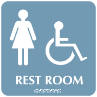 Rest Room (Women/Accessibility) - Optima ADA Restroom Signs