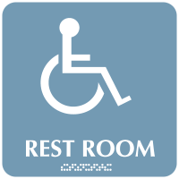 Rest Room (Accessibility) - Optima ADA Restroom Signs