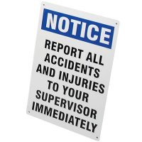 OSHA 300 Notice Sign - Report All Accidents