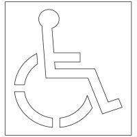 Plastic Graphic Stencil - Texas Disabled Parking Pavement Tool S-3148 D
